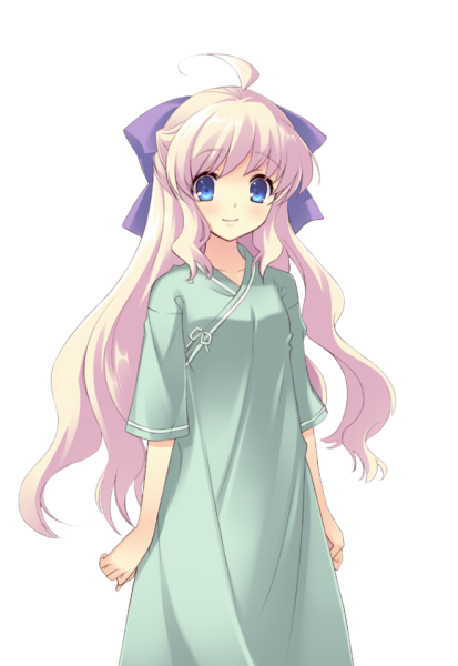 这个淡粉紫头发的二次元女孩是谁?图片