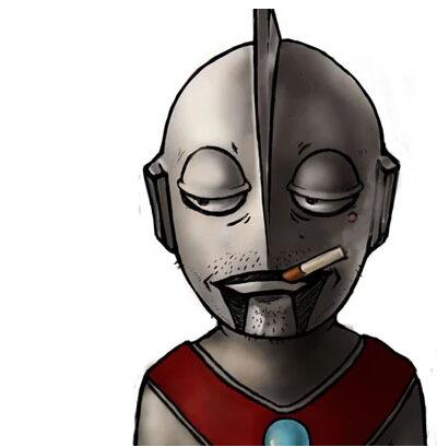 求一张奥特曼叼烟的图片图片