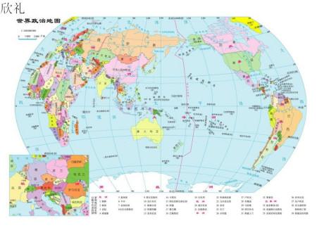 求亚洲欧洲国家地图图片