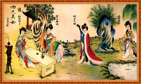 中国古代四大美女_百度知道图片