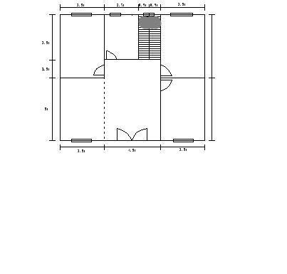 跪求一个农村房屋设计图,长方形的11.5*10,两层半的图片