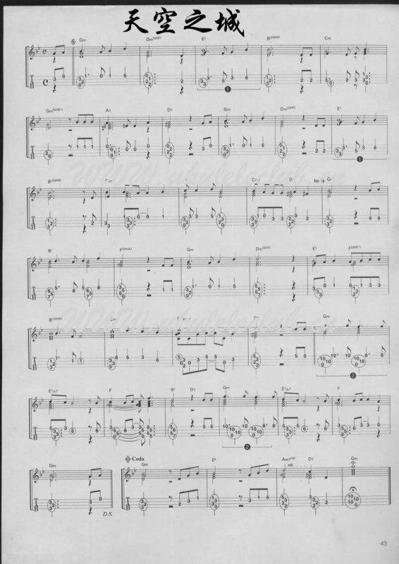 求ukulele的独奏谱
