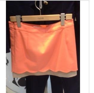 粉橘色半身裙配什么颜色上衣好看?_百度知道