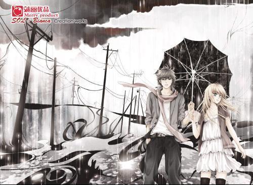 撑伞动漫头像_一张男生为女生撑伞的卡通头像_百度知道