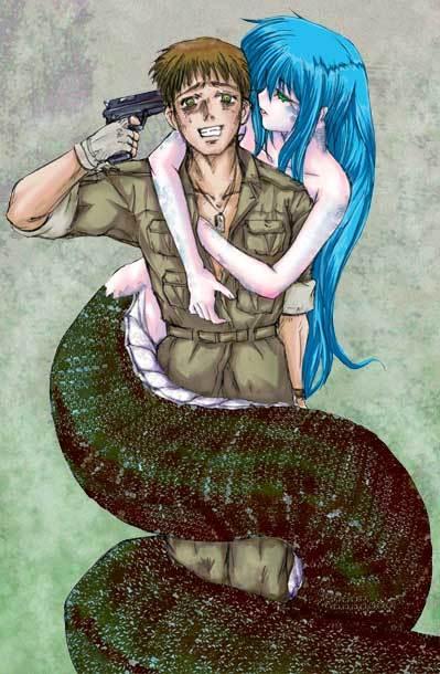 求图:蛇尾动漫女孩