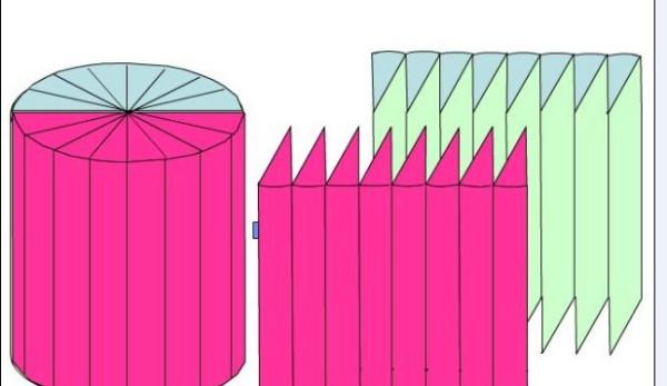 高是20厘米的长方体拼成一个近似的圆柱体后,表面积减少了200图片