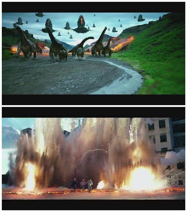 变形金刚4绝迹重生一开始为什么出现了很多恐龙被外星人杀死