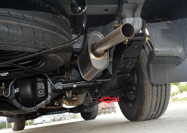 为什么东风风行菱智车轮胎上面没有减震弹簧