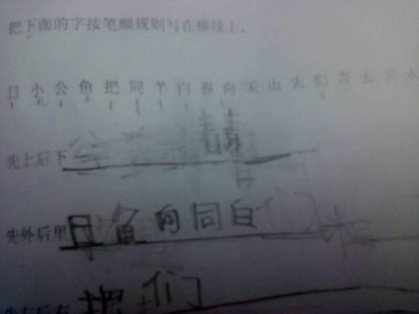 边字笔顺笔画顺序-把下面的字按笔顺规则写在横线上,先上后下先外后里先左后右先擞后