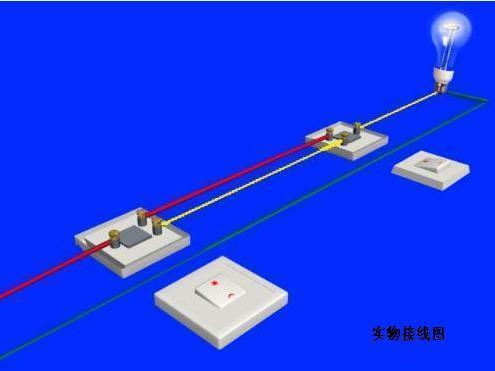 求接线图.两地控制一个灯开关接线图.如图是双开关.如何两地接线控制图片