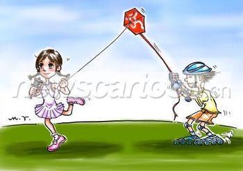 急求一张情侣放风筝的图片图片