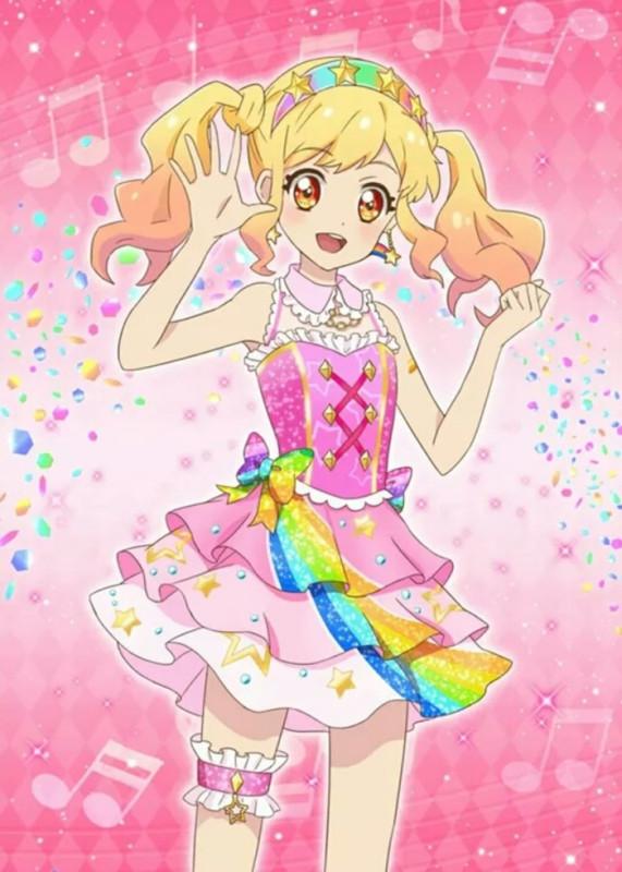 虹野梦,日本动漫《偶像活动stars!》第一,二季,剧场版中的女主角.