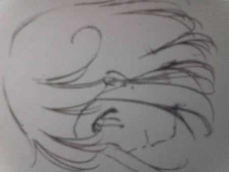 动漫人物微侧脸画法