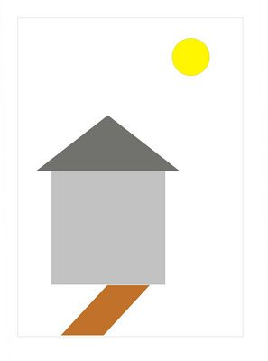 用一个正方形,三角形,平行四边形,圆形能组成什么图形?图片