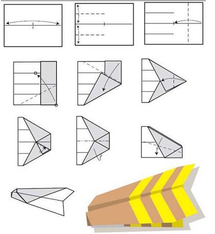 纸飞机折纸大全图解图片