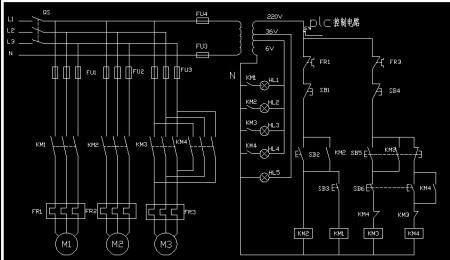 这个小学转换成继电器和plc的双重v小学电路图?a小学划片!三菱的2016电路升年图白银区初中求解图片