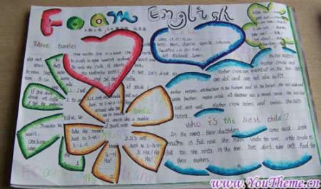 小学英语手抄报版面设计图要冀教版的六年级的