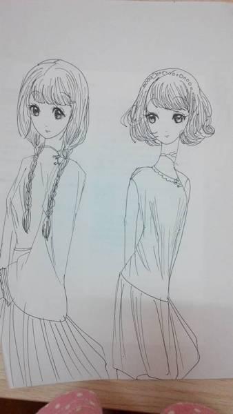 画一个长头发小女孩简笔画分享展示图片