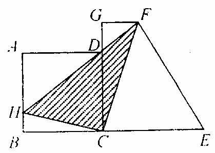 正方形abcd的边长为12,直角梯形cefg的上底,下底和高分别为4,14和15.图片