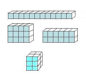 12个同样的正方形拼成一个大正方形的立体图形怎么画图片