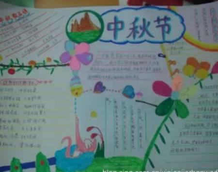 二年级中秋节的一幅画分享展示图片