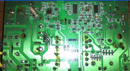 48v电动车充电器 拆开维修 换了3842 8n60 串灯泡试机高清图片