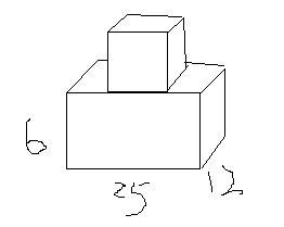 由一个正方体和一个长方体组合而成的.求这个物体的表图片