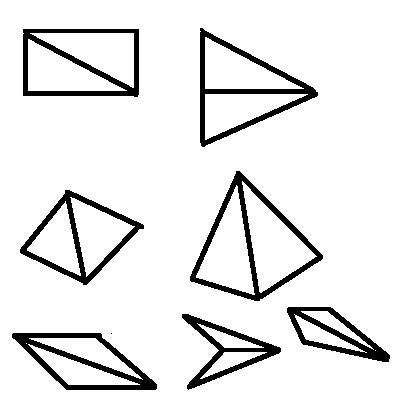 两个同样的三角形分别能拼成什么样的图形?图片