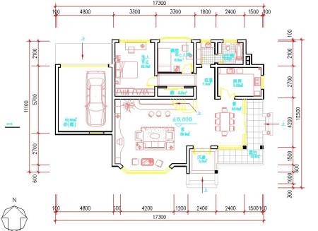 客厅要大一些求设计平面图图片