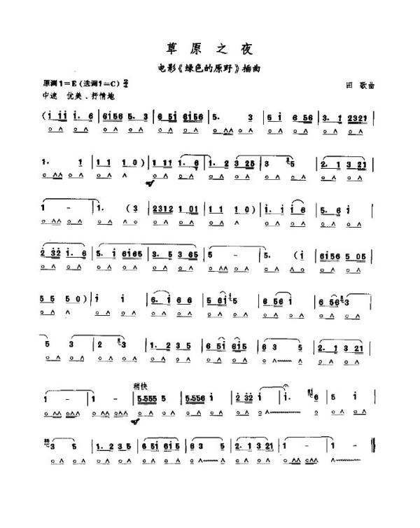 24孔c调复音口琴歌曲简谱图片图片