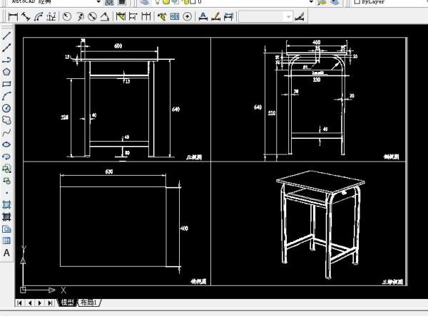 欧式家具cad三视图_欧式家具cad三视图图片素材