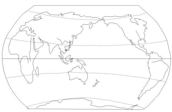 世界空白图世界地图空白轮廓图世界地图空白图
