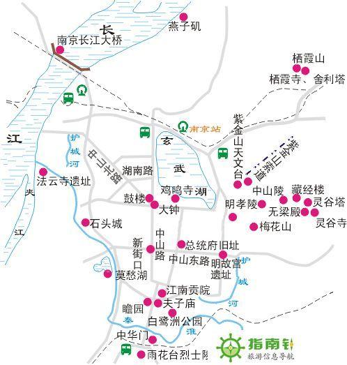 南京旅游路线图【相关词_ 南京旅游景点路线图】