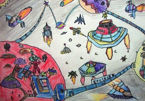 想象未来的太空画内容|想象未来的太空画版面设计图片